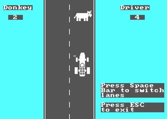 donkey.bas - ilk bilgisayar oyunu